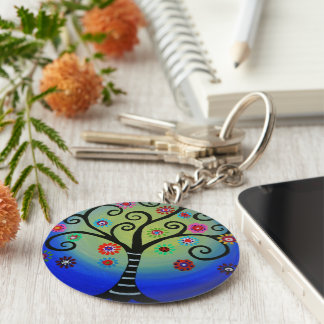 Judaica Tree of Life Keychain