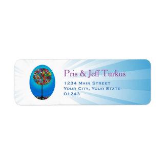 Judaica Tree of Life Label