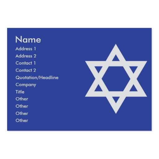 Judaism - Chubby Business Cards