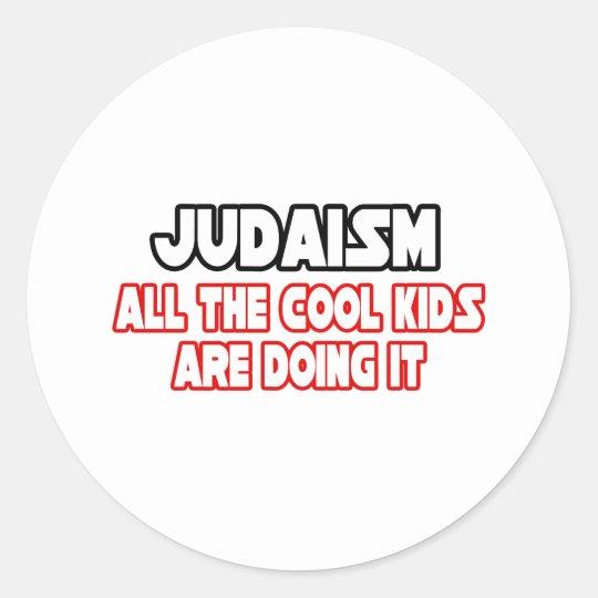 Judaism...Cool Kids Classic Round Sticker