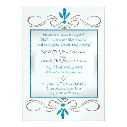 Judaism Flourishes Wedding Ceremony Invitations