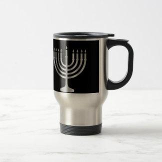 Judaism Menorah 15 Oz Stainless Steel Travel Mug