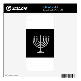 Judaism Menorah iPhone 4S Decals