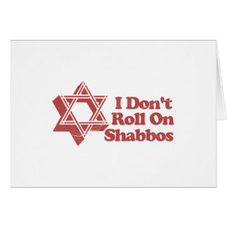 Judaism Roll Shabbos Card
