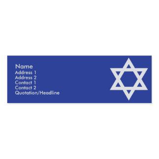 Judaísmo - flaco tarjetas de visita mini