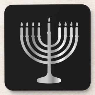 Judaísmo Menorah Posavasos De Bebidas
