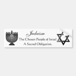 Judaísmo - pegatina para el parachoques etiqueta de parachoque