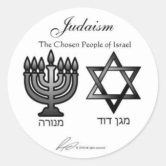 Judaísmo - pegatinas pegatina redonda