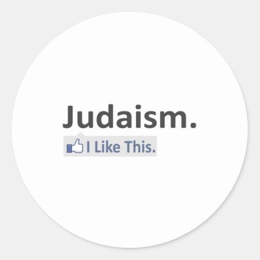 Judaísmo… tengo gusto de esto pegatina redonda