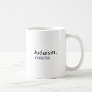 Judaísmo… tengo gusto de esto taza básica blanca