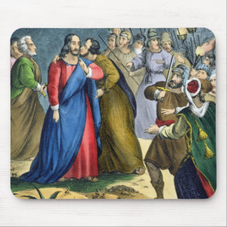 Judas Betrays his Master, from a bible printed by Mouse Pad