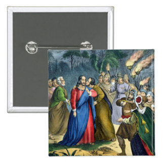 Judas Betrays his Master, from a bible printed by Pinback Button