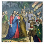 Judas Betrays his Master, from a bible printed by Tile