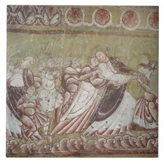 Judas Kissing Christ (fresco) (detail of 95750) Ceramic Tile