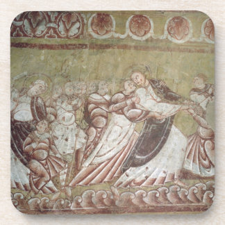Judas Kissing Christ (fresco) (detail of 95750) Coaster