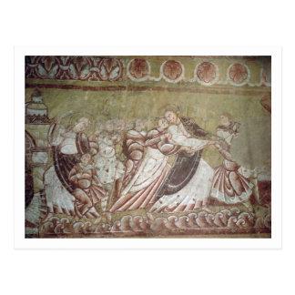 Judas Kissing Christ (fresco) (detail of 95750) Postcard