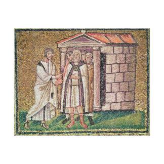 Judas se arrepiente, las escenas a partir de la vi lienzo envuelto para galerias