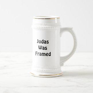 Judas Was Framed 18 Oz Beer Stein