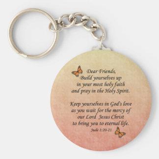 Jude 1:20-21 ~ Holy Faith Keychains