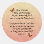 Jude 1:20-21 ~ Holy Faith Round Sticker