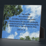 "Jude 1:24-25 plaque<br><div class=""desc"">Beautiful sky with tree branches in foreground,  and Bible Verse of benediction,  Jude 1:24-25: (Now unto Him who is able to keep you from falling... )  Perfect gift for a minister,  preacher,  or any member of the clergy.</div>"