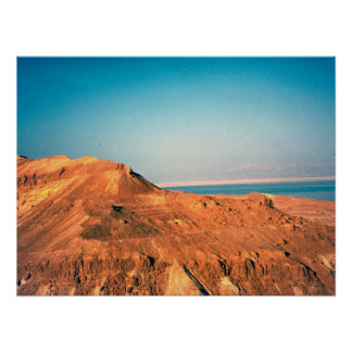 Judean desert and the Dead Sea Poster