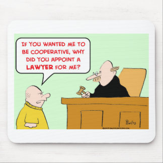 judge appoint lawyer cooperative mouse pad