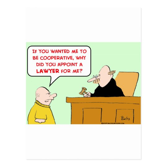 judge appoint lawyer cooperative postcard
