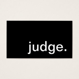 judge. business card