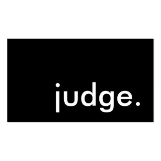 judge. business card templates
