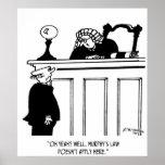 Judge Cartoon 4588 Poster