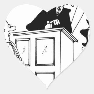 Judge Cartoon 5321 Heart Sticker