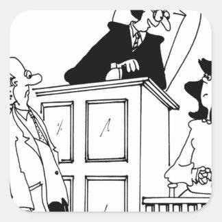 Judge Cartoon 5321 Square Sticker