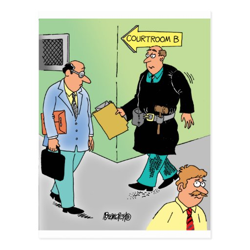 Judge Cartoon Postcard