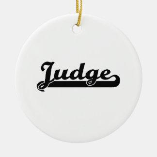 Judge Classic Job Design Double-Sided Ceramic Round Christmas Ornament
