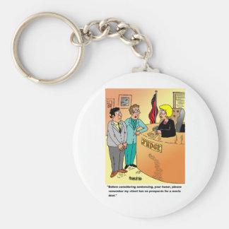 Judge / Defendant ? Lawyer cartoon humor Basic Round Button Keychain