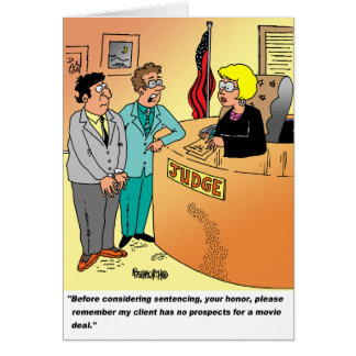 Judge / Defendant ? Lawyer cartoon humor Card