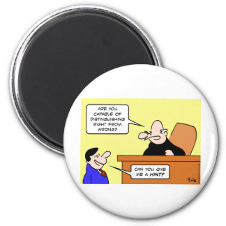 judge difference right wrong hint magnet