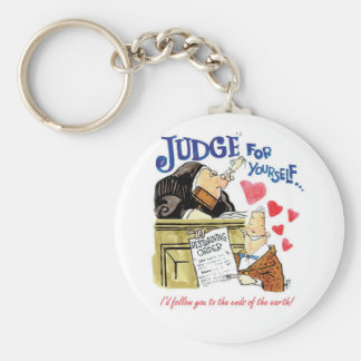 Judge for Yourself Basic Round Button Keychain