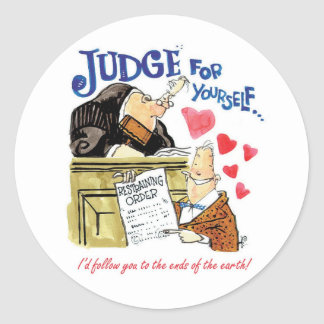 Judge for Yourself Classic Round Sticker