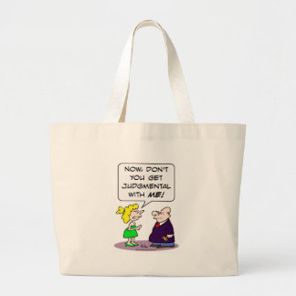 Judge gets judgmental with wife. large tote bag