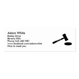 Judge hammer business card
