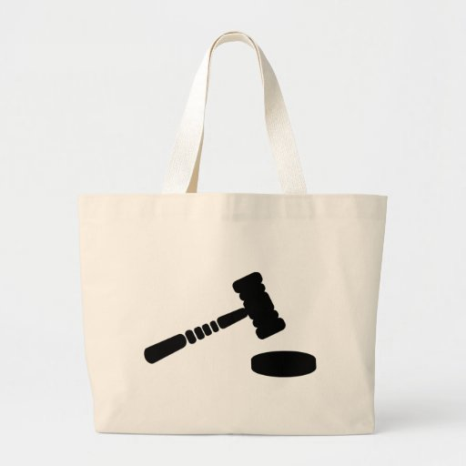 Judge hammer jumbo tote bag