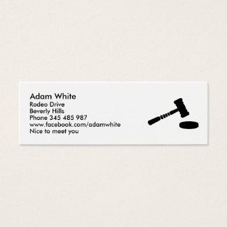 Judge hammer mini business card