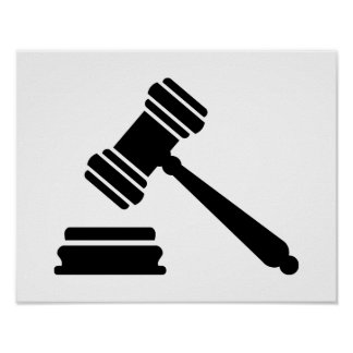 Judge hammer poster