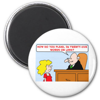 judge how plead words 2 inch round magnet