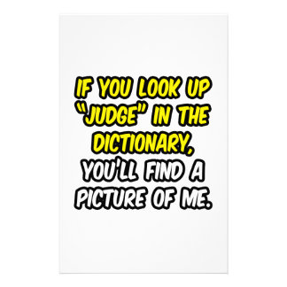 Judge In Dictionary...My Picture Custom Stationery