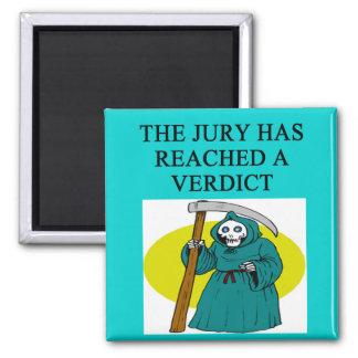 JUDGE joke 2 Inch Square Magnet