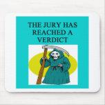 JUDGE joke Mouse Pads
