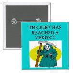 JUDGE joke Pinback Buttons